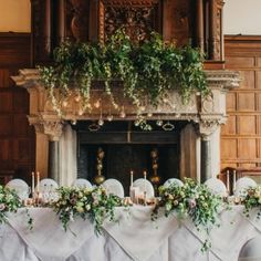 Wild foliage fire place arrangement with hanging globe tea lights... top table tablescape with candlesticks and tea lights... Real weddings Dorset, Hampshire, Wiltshire - Clair Lythgoe wedding florist Aisle Flowers, Rustic Wedding Flowers, Wedding Top Table Flowers, Top Table Ideas, Burgundy And Grey Wedding, Wedding Flower Inspiration, Flower Ideas, Wedding Ideas, Large Floral Arrangements