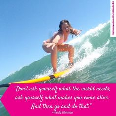 Don't ask yourself what the world needs; ask yourself what makes you come #alive . And then go and do that. - #HaroldWhitman   Our most recent guest on #TheMOJOShow artist and surfer Tonia Senoo ( @hafumoo ) offers all of us a perfect example of placing priority on those things that make us come alive. Watch or listen to our fun chat with her at http://ift.tt/2dC4YBZ (active link in our bio).   #mymojoyoga #mojolife #podcast #livethelifeyoulove #surf