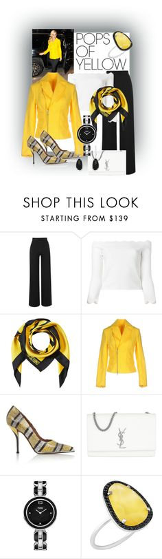 """""""Work & Go"""" by kflorence ❤ liked on Polyvore featuring Amanda Wakeley, Alexander McQueen, Moschino, Dsquared2, Givenchy, Yves Saint Laurent, Fendi, Christina Debs, Effy Jewelry and yellow"""