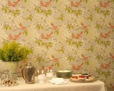 "Galbraith & Paul ""Birds"" Wallpaper in Color Sage"