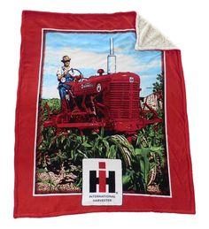 IH Farmall Heavy Fleece 60x48 Sherpa Blanket