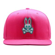 1e132ea35f2 Psycho Bunny Everyday Flat Brim Snapback Hat in Snapdragon Bunny Man