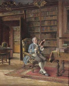 In the Library - Johann Hamza - The Athenaeum