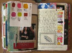 "TIP: keep a ""tip"" journal & include color swatches for reference back to fave combinations."