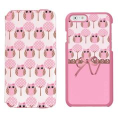 Girly Pink Owls