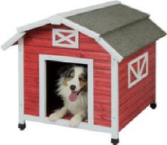 Precision Pet Barn Dog House for Large Dogs Old Red >>> Check this awesome product by going to the link at the image. (This is an affiliate link) Large Dogs, Small Dogs, Small Animals, Dog House Air Conditioner, Plastic Dog House, Small Dog House, Insulated Dog House, Cool Dog Houses, Small Dog Clothes