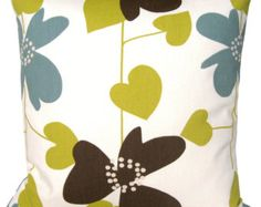 Modern Decorative Throw Pillow - 16x16 Cushion Cover - Nordic Bloom Pistachio  $13.50