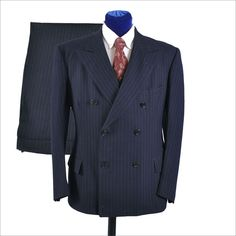 1930's men's fashion | Men's Vintage 1930's 3 pc Double Breasted Suit - Pin Stripe from ...
