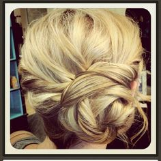 Idea for reception hair so I can dance my booty off without my long hair getting too crazy!