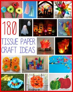 180+ Tissue Paper Crafts for Kids