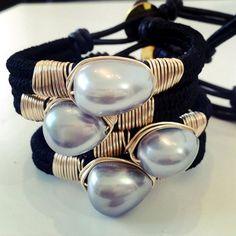 Bracelets By Vila Veloni Macrame Mallorca Pearls