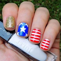 patrioticnails.quenalbertini: July 4th Nail Design by hannvjk