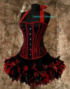 Custom Made Moulin Rouge Burlesque Can Can Costume L    ecrater.com
