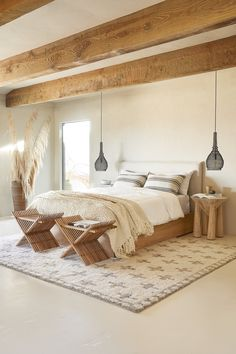 Charming Bohemian Home Interior Design Ideas Dream Bedroom, Home Bedroom, Bali Bedroom, Light Bedroom, Bedroom Signs, Ikea Boho Bedroom, Loft Style Bedroom, Cabin Bedrooms, Rustic Bedrooms