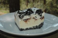 This ice cream cake had the perfect amount of oreos. Description from whatisonyourmenu.blogspot.com. I searched for this on bing.com/images