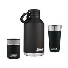 Coleman gift set with 64 oz. tumbler and can insulator Brand Names, Brewing, Tumbler, Water Bottle, Packaging, Cookies, Canning, Mugs, Drinks