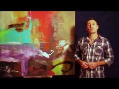 """Now and Then"" Large Abstract Painting in the Making by Gino Savarino - YouTube"