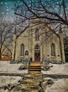 Snowy Church Day In Delaware City... right down the street from me