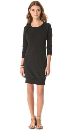 I need this so that I don't have to think when I get dressed.  James Perse Raglan Sweatshirt Dress