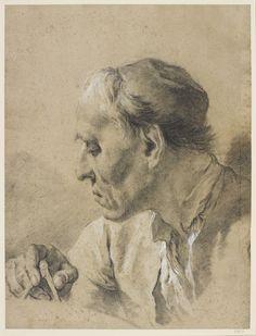 Head of a Mathematician - Giovanni Battista Piazzetta - circa 1730-1754