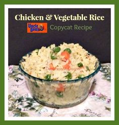 Fan of Uncle Ben's Chicken Vegetable Rice? Can't eat it because it contains gluten? Either way, you can make it homemade, gluten-free, and for less.