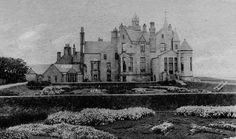 Old photograph of Balfour Castle, Shapinsay, Orkney Islands , Scotland . This is a Scottish castle built around an older structure that date. Orkney Islands, Old Houses, Manor Houses, Scottish Castles, Old Photographs, My Land, Outlander, The Good Place, Scotland