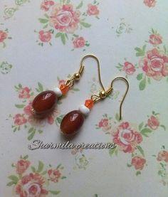 Brownie #handmade #earrings #jewellery #beads #sharmilacreations #brown