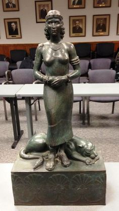 Queen Shamiram( Semiramis)  statue; The powerful Assyrian queen.