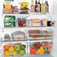 Fridge Binz. Finally get your refrigerator organized with bins designed to contain spills. Ideal for everything, from gathering small jars and bottles to defrosting a whole chicken!