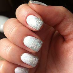 NYE nails! \ french de escarcha