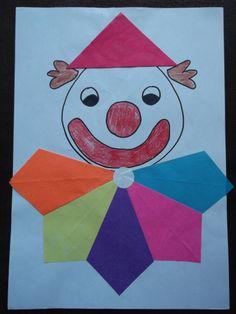 * Clowntje zijn kraag vouwen van vliegers! Clown Crafts, Circus Crafts, Art For Kids, Crafts For Kids, Circus Clown, Clowning Around, Toddler Art, Art Activities, Art Projects