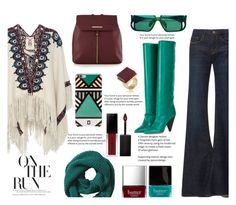 """""""Aztec"""" by juliehalloran ❤ liked on Polyvore featuring Figue, Frame, Isabel Marant, Red Herring, Banana Republic, Christian Dior, DANNIJO, Trina Turk, Butter London and Smashbox"""