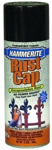 Hammerite Hammered Metal Finish Spray- makes wood look like metal.  Need for diy project