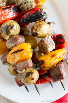 Recipe for Grilled Steak and Potato Kabobs