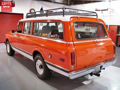 My dream car.  An old 1972 Chevy Suburban - of course, with all the fixes and modernizations.