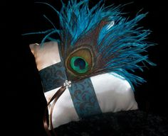 Peacock Collection  Turquoise and Brown Demask by DESIGNERSHINDIGS, $32.00