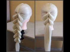 Pigtail - Коса с резинками - Hair tutorial - Hairstyles by REM - YouTube