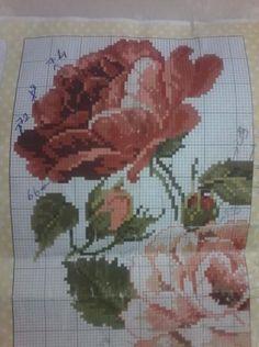 Geri Dönüşüm Projeleri Cross Stitch Rose, Cross Stitch Flowers, Cross Stitch Patterns, Diy And Crafts, Embroidery, Design, Towels, Ideas, Poppies