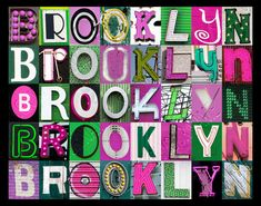 Personalized Poster featuring BROOKLYN showcased by SignYourNames, $16.00
