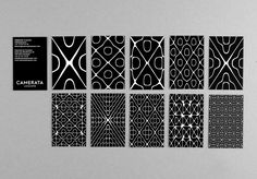 Camerata Lausanne identity, patterns of visualized music: DEMIAN CONRAD DESIGN
