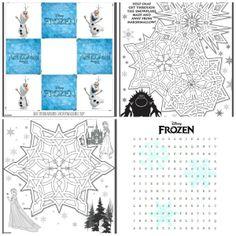 Frozen Printable Activities, Frozen Wordsearch, Frozen maze, Frozen Memory Cards, Build Frozen Olaf