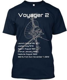 Voyager 2 NASA probe Mission tee shirt design | Science tee shirt