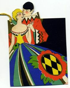 Art Deco Couple  Bridge Tally Card 1930 | eBay