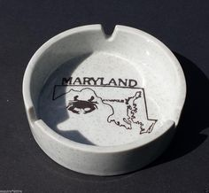 #ashtray state Maryland theme round excellent quality visit our ebay store at  http://stores.ebay.com/esquirestore