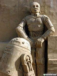 Star Wars sand sculptures