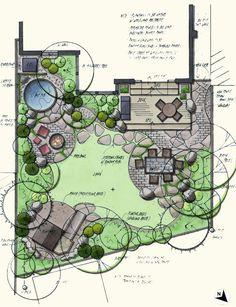 garden patio design layout - Google Search More
