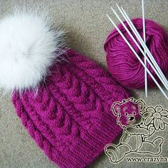 Wine cable knitted hat - Step-by-step tutorial here..  size US 4 circulars..  could use larger needles tho.. she said multiples of 20, so could use less stitches anyways, some say its quite large.. or could make a child size.. could use my size 8's..  ?   :)