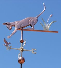 Sphynx Cat Weathervane with Hummingbird by West Coast Weather Vanes.  This all copper handcrafted custom made Sphynx cat weathervane features glass eyes and brass whiskers.