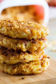 Perfect for a special holiday breakfast, these Crispy Onion Potato Pancakes are crispy on the outside with soft and creamy centers.: