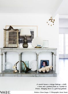 The home of interiors stylist Megan Morton, currently featured in Vogue Living July/Aug 2012. Photographer Anson Smart.